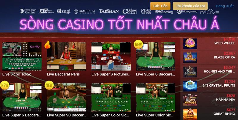 Nhà cái Live Casino House