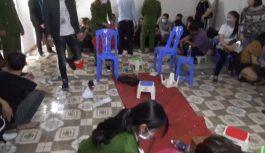 Bắt quả tang nhóm đối tượng đánh bạc quy mô lớn tại Vĩnh Phúc