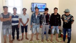 Tạm giữ 7 đối tượng đánh bạc trong nhà hoang tại Bảo Lộc