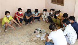Tạm giữ 11 đối tượng để xử lý về hành vi đánh bạc tại Tây Ninh