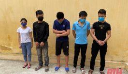 Công an huyện Thọ Xuân bắt 1 vụ tổ chức sử dụng ma túy và 1 vụ đánh bạc