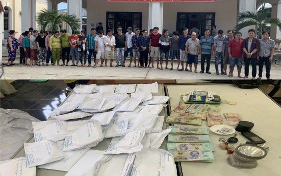 Bắt giữ 56 người tham gia tụ điểm lắc tài xỉu ở Gò Dầu
