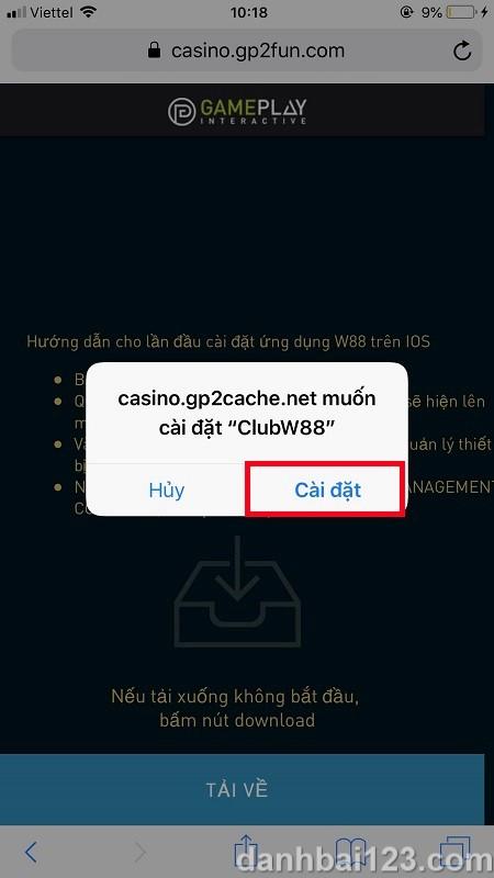 Hướng dẫn cách chơi casino trực tuyến trên điện thoại tại nhà cái W88