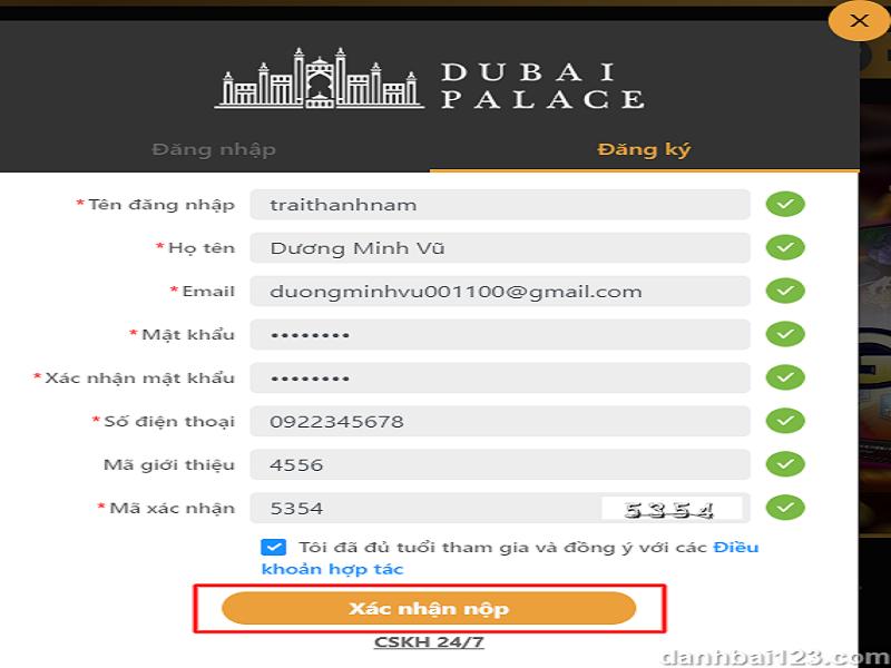 Hướng dẫn Đăng Ký Tài Khoản Xóc Đĩa Online tại nhà cái uy tín Dubaicasino