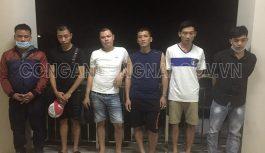 Bắt quả tang 6 đối tượng đánh bạc trong phòng trọ tại Đồng Nai