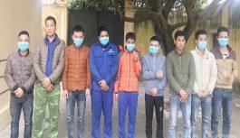 Bắt quả tang 9 đối tượng đánh bạc, thu giữ nhiều tang vật tại Bắc Giang